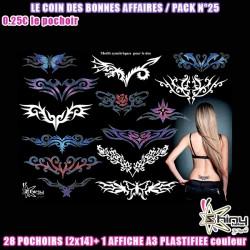 Pack 28 pochoirs Les Bonnes Affaires n°25