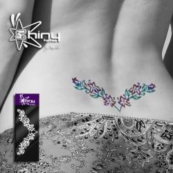 Pochoir Tattoo Bas dos Fleur 001