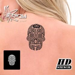 Pochoir Tatouage Temporaire HD 001 Crâne