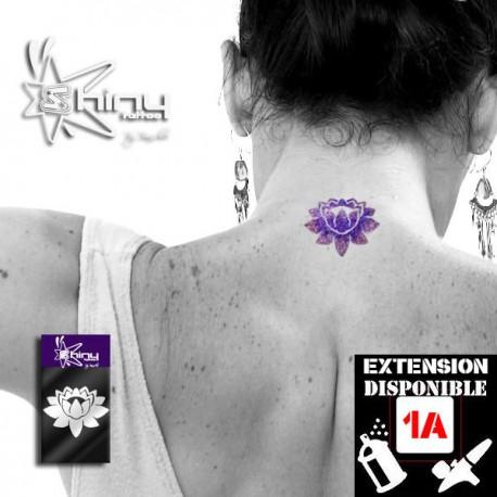 Pochoir Tatouage Temporaire SE Lotus 001