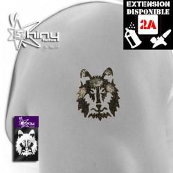 Pochoir Tatouage Temporaire SE Loup 002