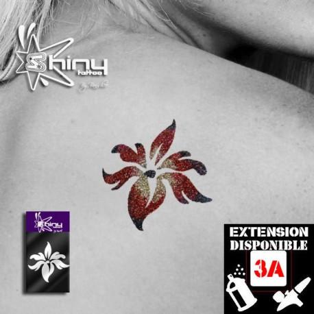 Pochoir Tatouage Temporaire SE Orchidée 003