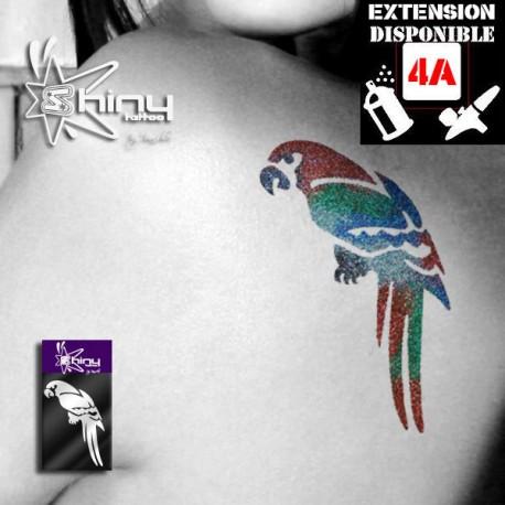 Pochoir Tatouage Temporaire SE Perroquet 001