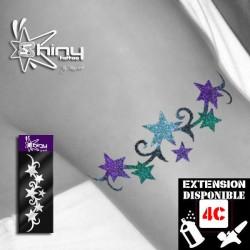 Pochoir Tatouage Temporaire SE Bracelet Etoile 002