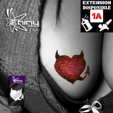 Pochoir Tatouage Temporaire SE Coeur 008
