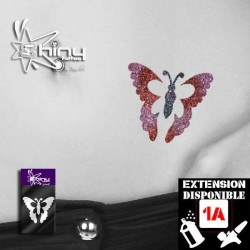 Pochoir Tatouage Temporaire SE Papillon 007