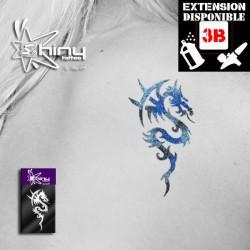 Pochoir Tatouage Temporaire SE Dragon 009