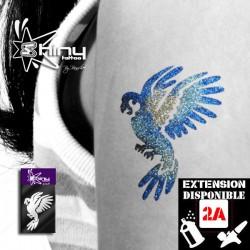 Pochoir Tatouage Temporaire SE Perroquet 002