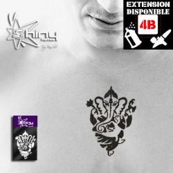Pochoir Tatouage Temporaire SE Ganesh  001
