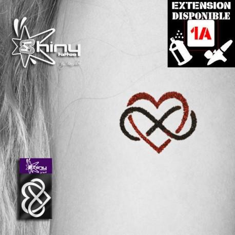 Pochoir Tatouage Temporaire SE Coeur 009