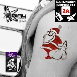 Pochoir Tatouage Temporaire SE Père Noel 001