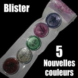 Blister 5 nouvelles couleurs paillettes
