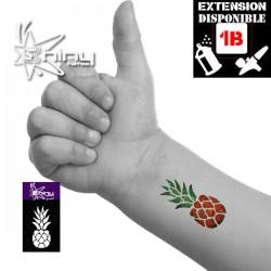 Pochoir Tatouage Temporaire SE Ananas 001