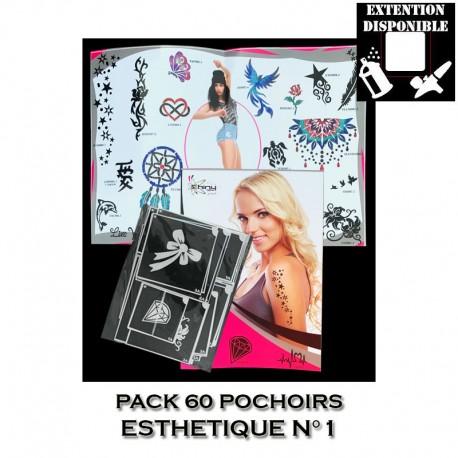 """Pack 60 pochoirs """"SE"""" Esthétique 1"""